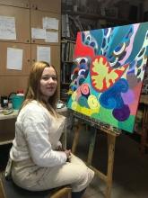 Анна Савіцька – учасниця Міжнародної виставки з живопису «Відкритий простір»