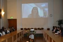 Студенти факультету міжнародних відносин дискутували із директором Центру інформації та документації НАТО в Україні Барбарою Маронковою